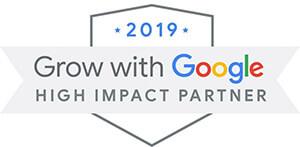 Grow with Google High Impact Partner 2019 badge